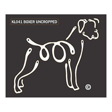 Boxer Uncropped K-Lines Dog Car Window Tattoo Decal Sticker