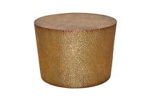 2952 Beistelltisch aus Metall Couchtisch Nachttisch Nachtkonsole Tisch Goldbraun