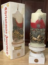 Vintage 1978 Jasco Christmas Journey Large Candle And Holder stand pillar - New
