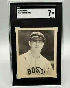 "1939 Playball MORRIS ""Moe"" BERG #103 SGC 7 NM Boston Red Sox Freshly Graded"