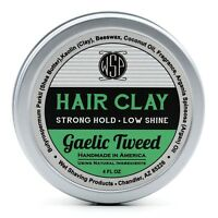 Hair Clay (Gaelic Tweed) 4 oz Natural Wax Based Pomade by WSP Natural