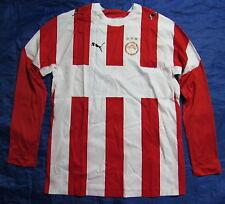 OLYMPIAKOS PIRAEUS long sleeve jersey by PUMA UNIQUE 2006-2007 /men/red-white/ L