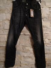 DSQUARED2 MEN'S  BLACK JEANS TIGHT BOTTOM LONG CROTCH ITALY SIZE 42 US 28