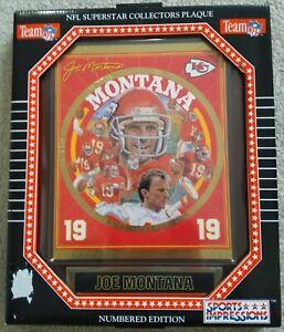 SM Vintage 1994 Sports Impressions Joe Montana NFL Kansas City Chiefs Plaque NEW