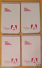 """""""Alpha Cements 75th Anniversary"""" Small Tablets (Qty 4) with 1970--1971 Calendars"""