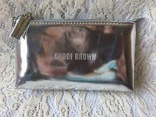 Bobbi Brown Silver Bag Clutch Eyeglasses Sunglasses Case Mirror Makeup Bag Gift
