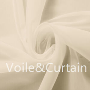 Ivory Voile Fabric by the meter 150cm and 300cm Wedding Event Ceiling Drapes