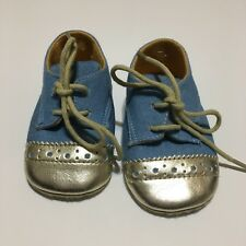Guess Crib Shoe Size 3 Blue And Gold Infant Girl