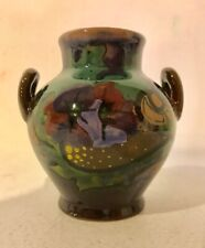 """GOUDA POTTERY - BEAUTIFUL 3.5"""" DOUBLE HANDLED VASE EXCELLENT SIGNED"""