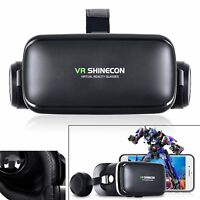 Newest VR Shinecon IV 6.0 Virtual Reality 3D Movie Glasses Helmet with Headphone