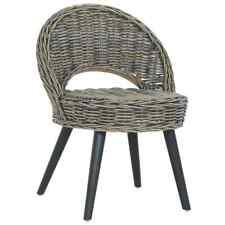 vidaXL Sofa Chair Kubu Rattan Black Armchairs Bedroom Seats Home Lounge Couch