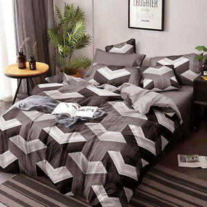 Duvet/Doona/Quilt Cover Set - Queen/King/Super King Size Bed M401