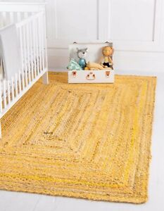 Rug 100% Natural Hand Braided Cotton Bohemian living area vintage Decor rag Rugs