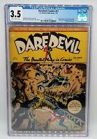 DAREDEVIL COMICS # 21 CGC 3.5 Rare! 1944 Golden Age Comic Lev Gleason Original