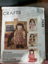 """Vintage 1995 McCall's Crafts Clothing Patterns 18"""" Dolls Fancy Frock Dresses"""