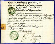 ITALIA - Regno - 1867 - Da Chiuduno a Bergamo - 10 c - Vittorio Emanuele II