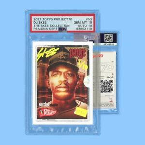 PSA 10 Satchel Paige x DJ Skee Illmatic Signed Topps Project 70 Auto Card #09/10