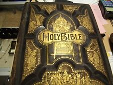 1889 Family Holy Bible Cranston & Stowe Antique