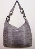 MICHAEL KORS Women's Tote Hobo Gray Python Print Leather Handbag B-1205