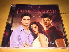 TWILIGHT saga BREAKING DAWN PART 1 score CD soundtrack CARTER BURWELL pattinson