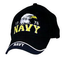 U.S. Navy Eagle Hat / USN 1775 Black Baseball Cap 6506