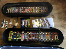Lot of 49 Tech Deck Finger Skateboards With Wall Mount Display Carrying Case