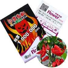 Ghost Pepper India Reaper Moruga Scorpion Chili Seeds Home Fast Growing