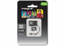 Integral 8GB Micro SDHC Classe 4 Carte Plus USB Lecteur INMSD8G4NAUSBR]