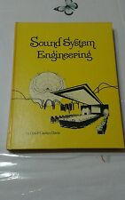 Sound System Engineering Carolyn & Don Davis 1st/1st (1975,1st ed. 1st printing)