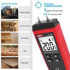 LCD Display Digital Wood Moisture Meter Humidity Tester Detector 2 Pin Probes US