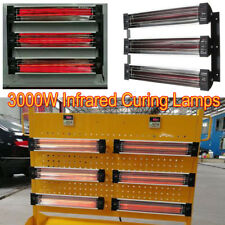 3KW Spray/Baking Booth Oven Infrared Paint Curing Heater Lamps Heating Lights