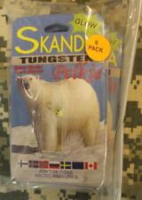 6 NEW Ice Fishing #12 Skandia Pelkie Tungsten WONDER BREAD GLOW Jigs SKP-12-178
