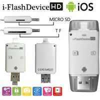 i-Flash USB OTG Micro SD Memory Card Reader Device For Apple Android nad PC