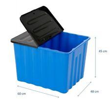 Kunststoffbox Box Lagerbox Aufbewahrungsbox Regalbox Kiste mit Deckel 110 Liter