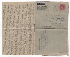 1949 Gb Kgvi Aerogramme Cover Watford to Newcastle Nsw Australia Stationery