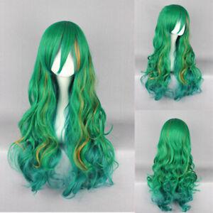Girl Anime Yowamushi Pedal Makishima Yusuke Green Long Cosplay Costume Hair Wig