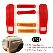 6pcs Driver Side Tail Lamp Fender Kit Fit For Ford 73-79 F-Series Econoline Van