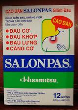 SALONPAS - Patch Soulagements Douleurs - boite de 12 . Neuf .