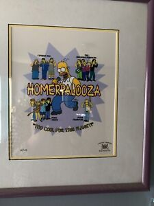The Simpson's    Homerpalooza    Limited Edition, Hand-painted, Numbered Cel
