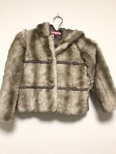 JUICY COUTURE GIRLS FAUX FUR LEOPARD JACKET w QUILTED LINING - SZ 8