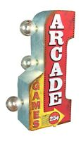 Arcade Games Arrow Double Sided LED Sign, Game Room Man Cave Pinball Bar Decor