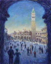 "Piazza San Marco. St. Mark Square, Venice. original painting, 24"" x 30"". Surin"