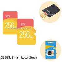 Memory Card TF Flash Ultra Micro SD 256GB Camera SDHC SDXC + Adapter Class 10 UK
