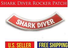 SHARK DIVER ROCKER chevron Iron-on adventure experience Embroidered Patch scuba