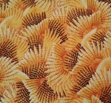 Wild Pheasants Hautman Brothers Quilting Treasures BTY Feathers Amber Gold