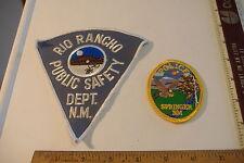 ~RIO RANCHO PUBLIC SAFETY & SPRINGER POLICE~ NEW MEXICO PATCHES~