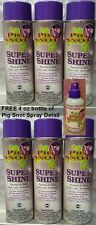 6 CANS PIG SNOT SUPER SHINE HIGH GLOSS & BLACK WRINKLE  FREE DETAIL SPRAY