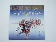 "Iron Maiden Signed 45 Cover By Steve Harris "" Can I Play With Madness "" W disc"