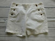 J.Crew Solid White Double Buttoned Front Casual Khaki Chino Shorts - Size 2