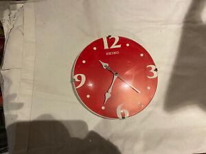 red seiko wall clock
